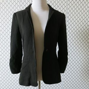 Elizabeth & James One Button Black Blazer Jacket 4